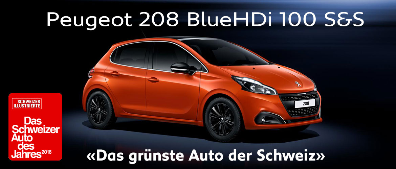 Peugeot 208 BlueHDi 100 S&S - Das grünste Auto der Schweiz